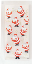 Twinkle Santa Clear Cello Bags 20pk